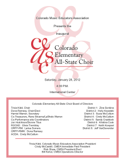 2012 CMEA Performance Program